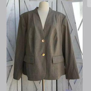 Calvin Klein Tartan Sport Coat Sz 22